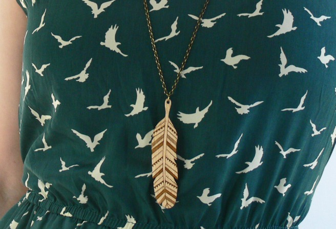 Woodland Feather Necklace
