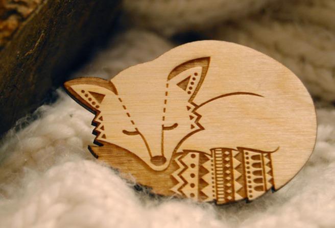 Woodland Fox Brooch