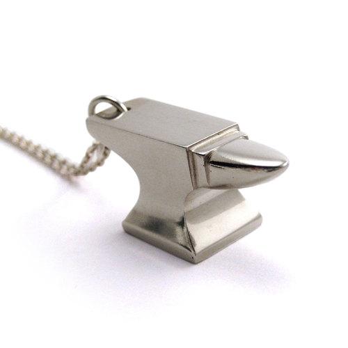 Silver Anvil Pendant